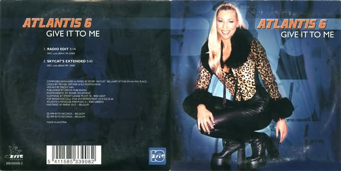 Give it to me CD Single cover (credits: www.dancewebsite.com)