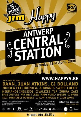 HAPPY 5 party in Centraal Station in Antwerp